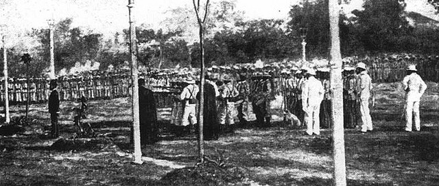 An Old Photo of the Actual Execution of Rizal