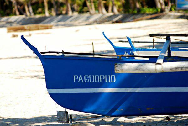 Blue Boat in Pagudpod