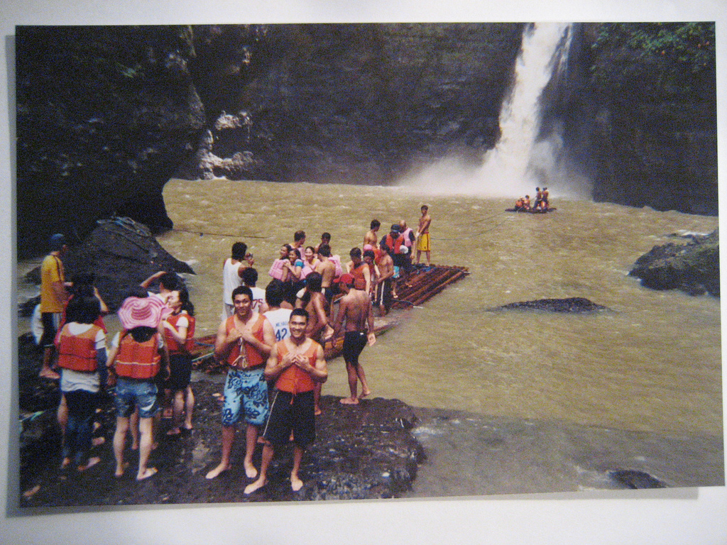 Pagsanjan Falls with tourists
