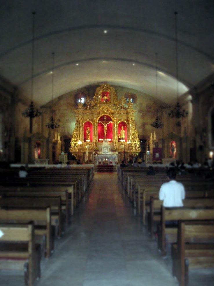 Miag-ao, Iloilo  Main altar.