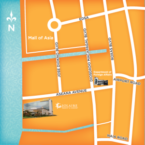 Map of Solaire Resort & Casino