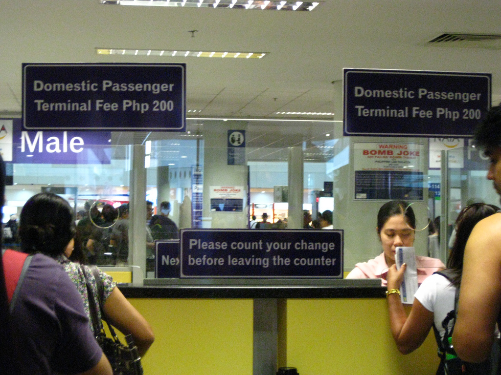 Terminal Fee Booth at Domestic Airport