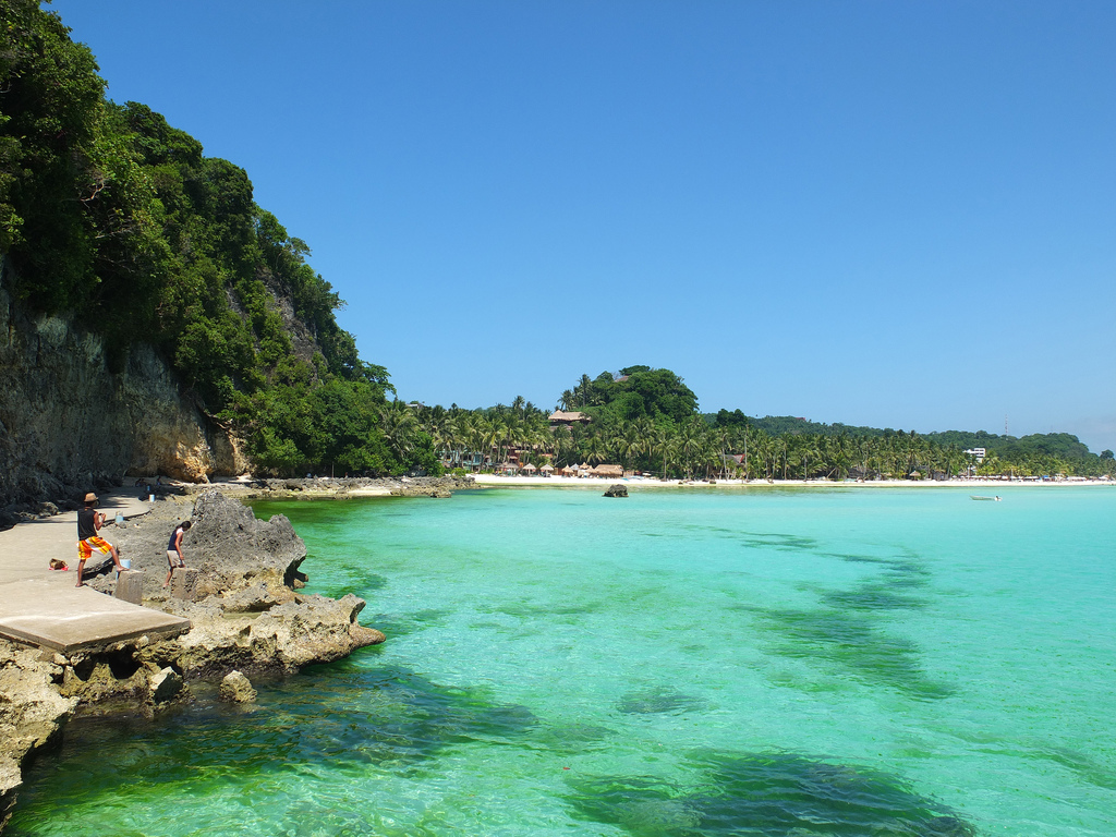 Clear water in Boracay