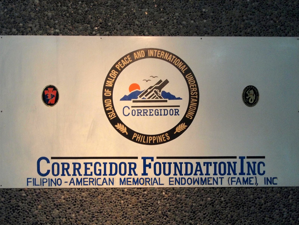 Corregidor Foundation Signage