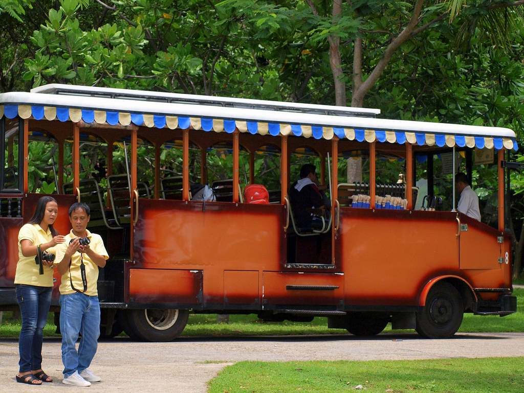 Tourists in Corregidor