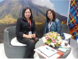 Ambassador Patricia Ann V. Paez and Ms. Susan del Mundo, Assistant Secretary for Sales and Marketing of the Philippine Tourism Promotions Board/Photo by dfa.gov.ph