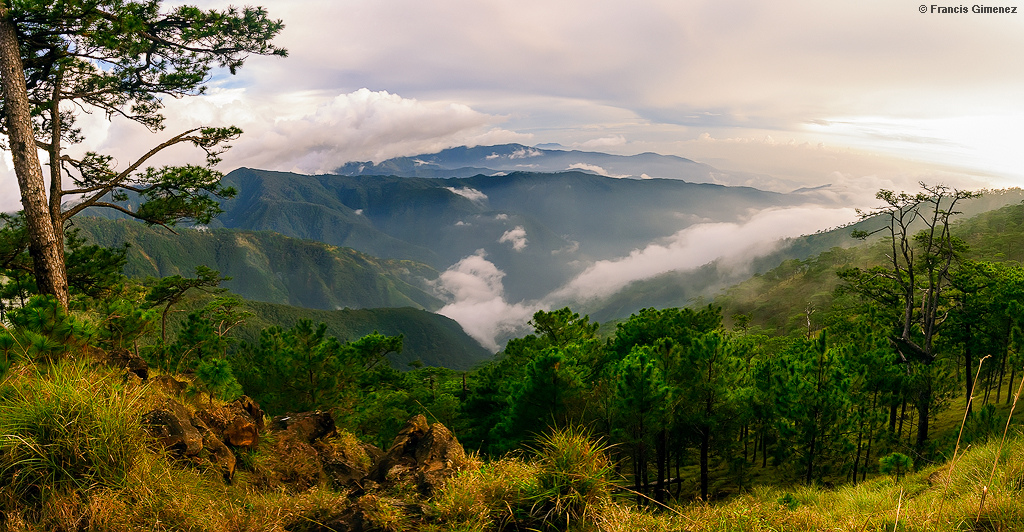 View from the peak of Mt. Tapulao