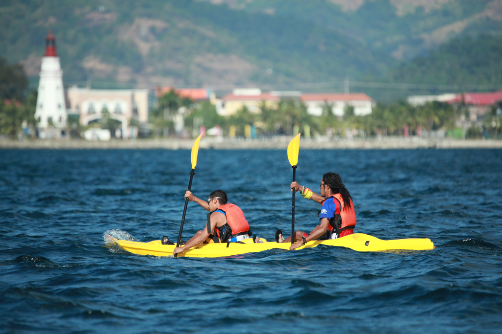 Kayaking at the Lighthouse Marina Resort Subic