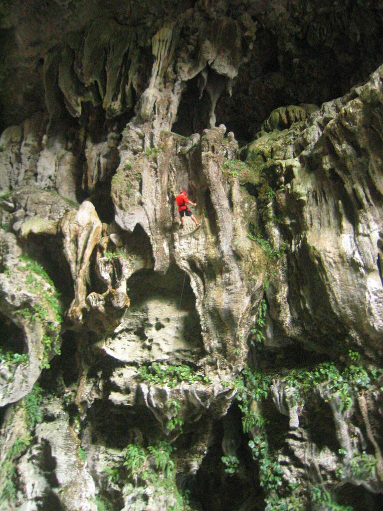 Rapelling at Calbiga Caves, Samar