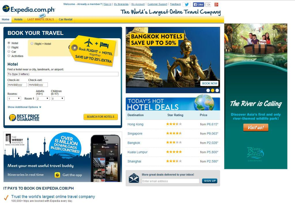Top travel sites for cheap travel in the philippines for Best travel discount websites