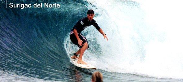 Surfing in Surigao