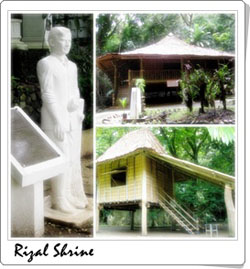 Rizal Shrine Photo by: dapitancity.gov.ph
