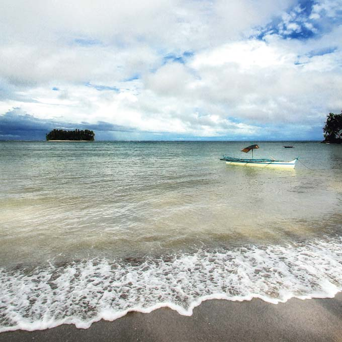 San Victor Island from Baganga Town in Davao Oriental. Photo by Jojie Alcantara