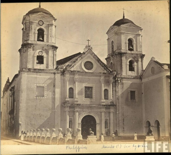 San Agustín before the powerful 1880 earthquake Image source: arquitecturamanila.blogspot.com