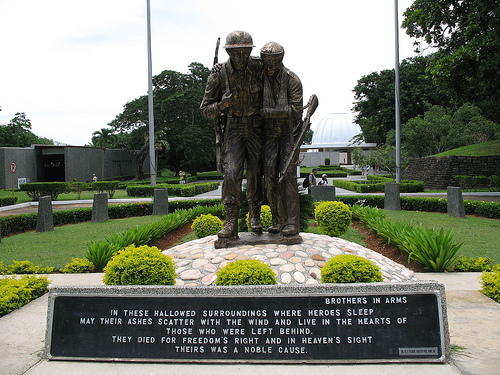 Brothers in Arms in the Filipino-American Friendship Park by dwighta3. Posted on flickr.com, licensed under Creative Commons