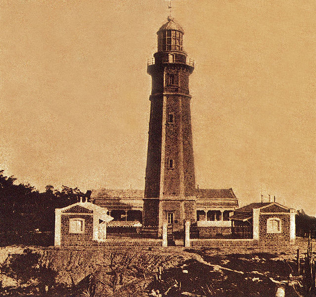 The Cape Melville Lighthouse in Balabac Island, Palawan in the Philippines, shortly after its completion in 1892. Picture taken by the ruling colonial government of the Philippines in 1892. Image source: Unknown/Creative Commons