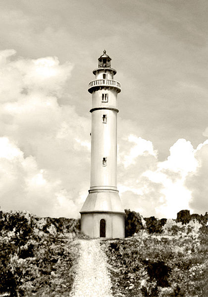 The American-built lighthouse on Maniguin Island in Culasi, Antique, Philippines. First lit in 1906.  Photo by: Spencer Crosby/Creative Commons