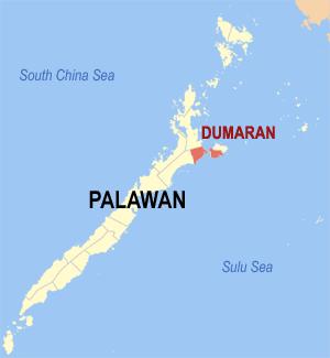 Map of Palawan showing the location of Dumaran Image source: Mike Gonzalez /Wikimedia Commons