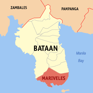 Map of Mariveles, Bataan Photo by: Magalhães /Wikimedia Commons