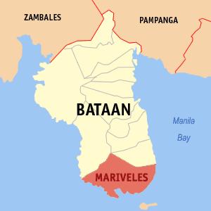 Map of Mariveles, Bataan Photo by: Magalhães /Wikimedia Commons