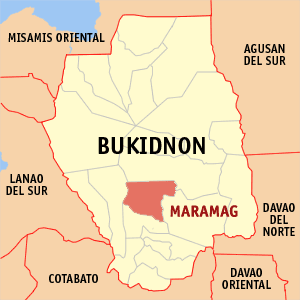 Map of Maramag, Bukidnon Photo by: TheCoffee /Wikimedia Commons