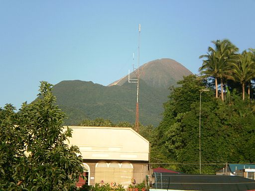 Mt Bulusan as seen from Poblacion, Bulusan, Sorsogon Photo by: P199/Wikimedia Commons