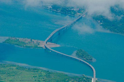 Aerial view of San Juanico Bridge Photo by: Rabosajr/Wikimedia Commons