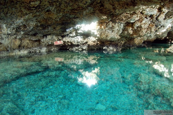 Enchanted Cave's fresh water pool Photo by: Out of Town