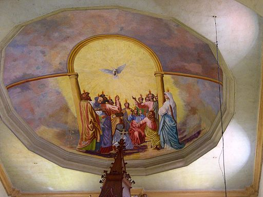 Ceiling art at St. Anne Church Photo by: Keneckert/Wikimedia Commons