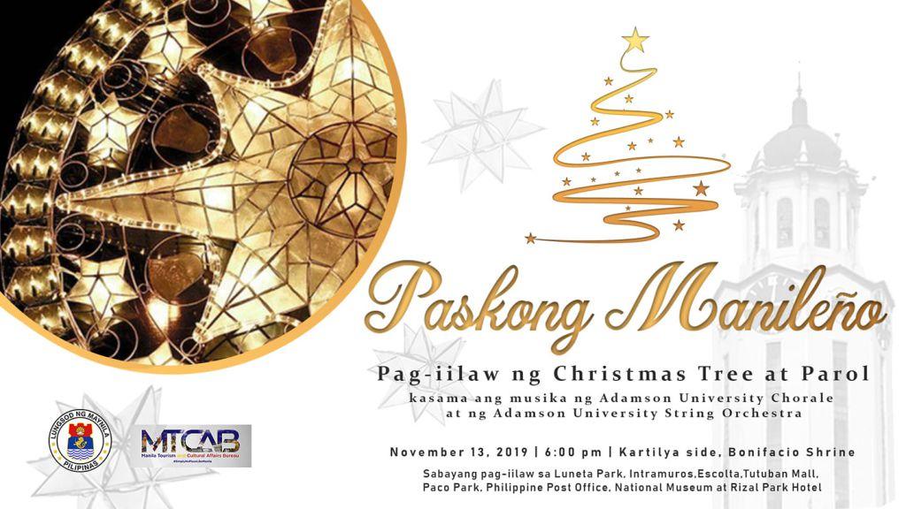 Manila Christmas Tree Lighting 2019